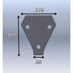 Mousse de selle néoprène type 68